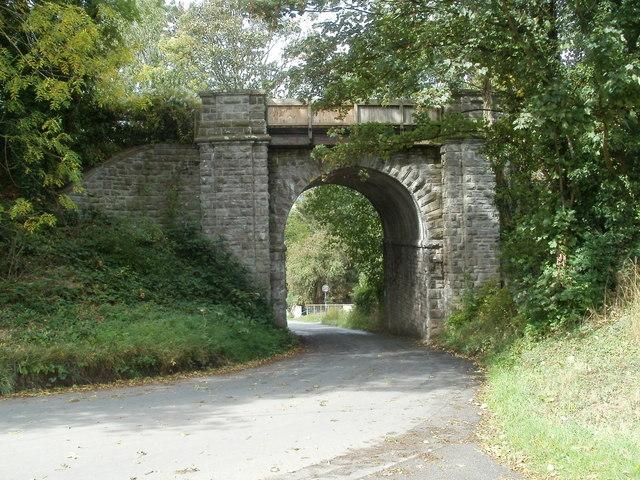 Grade II listed Treble Hill railway bridge, Glasbury, viewed from the SE