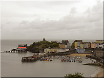 SN1300 : Tenby Harbour and Castle Hill by David Dixon