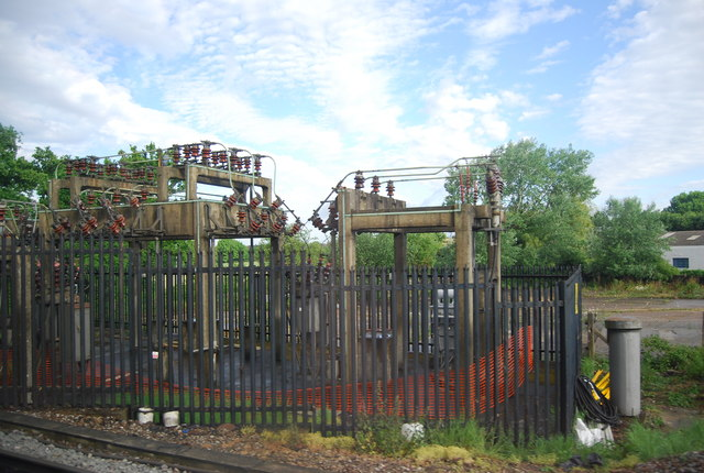 Electricity transformer by the Arun Valley Line