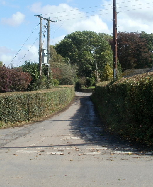 Road from Glasbury to Tir-uched Farm