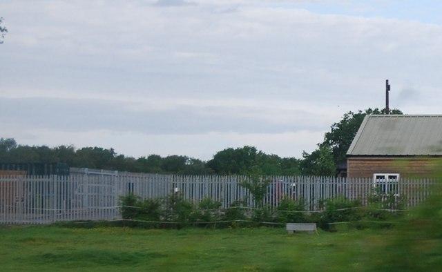 Metal fencing, Six Acre Farm