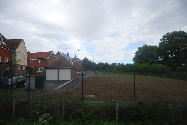 New housing development by the railway line