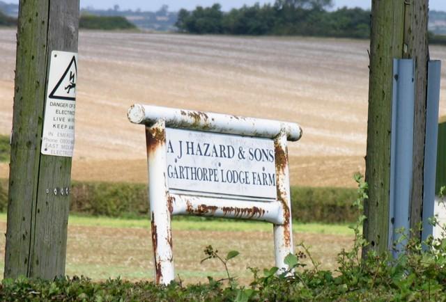 Garthorpe Lodge farm sign