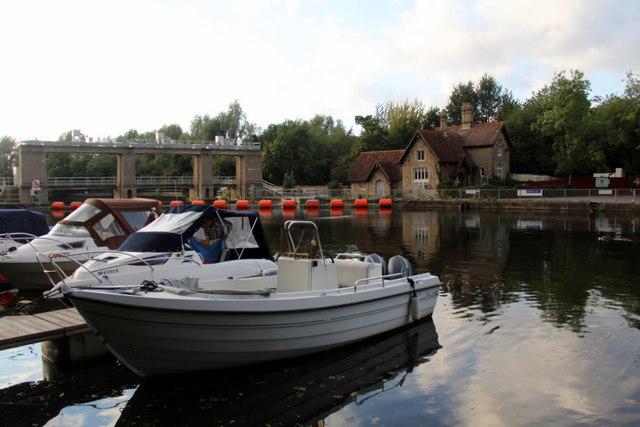 Moorings, Allington Lock, Kent