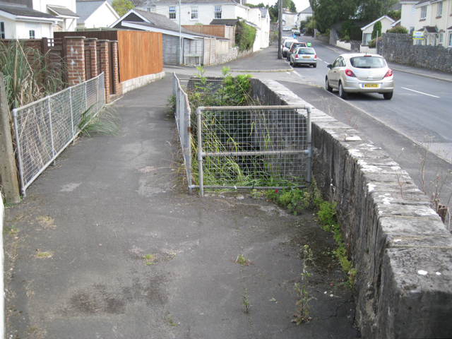Plymouth Road and a footpath cross a brook