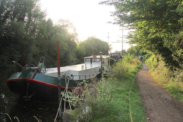 Boats Moored on River Medway, Allington Lock, Kent