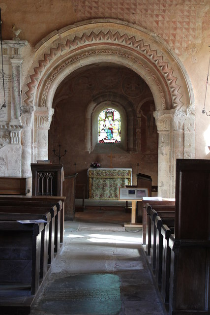 The chancel arch, St. Mary's, Kempley