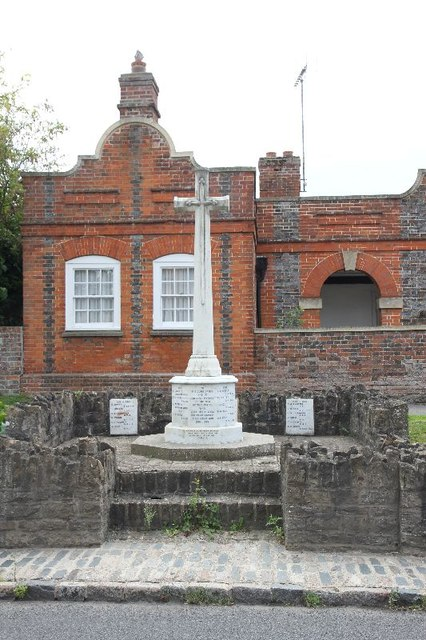 War Memorial by the almshouses