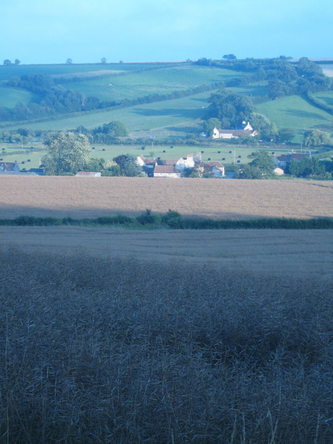 Part of Stanton Prior from slopes of Stantonbury Hill