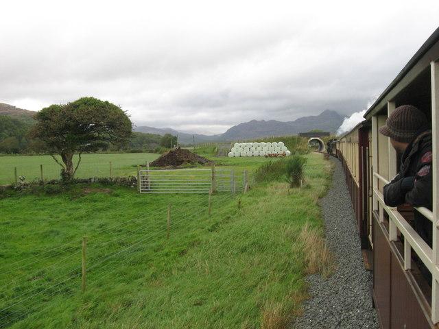 Welsh Highland Railway across Traeth Mawr