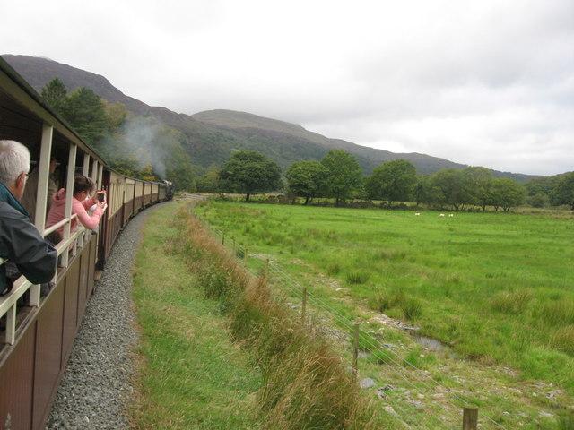 Welsh Highland Railway north of Croesor Junction