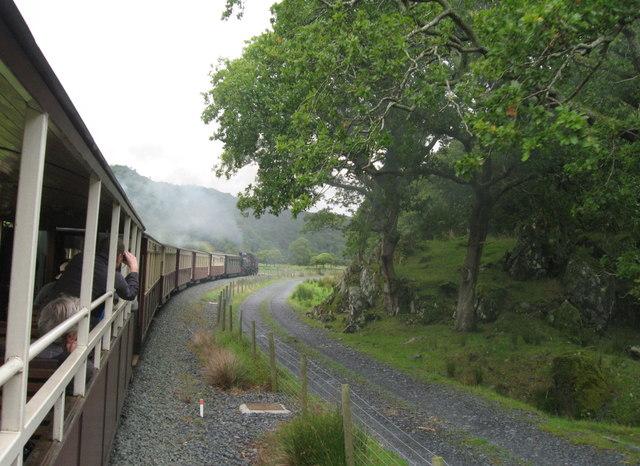 Welsh Highland Railway near Hafod-y-llyn