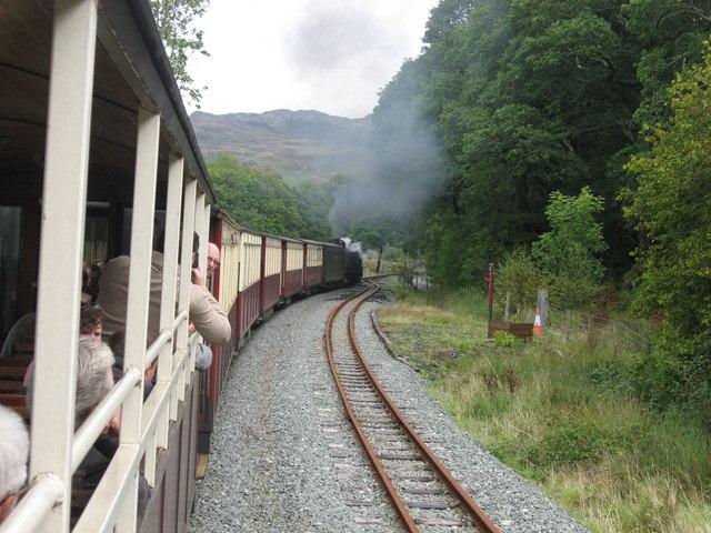 Welsh Highland Railway at Hafod-y-llyn