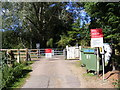 TM2950 : Level Crossing in Brick Kiln Lane by Adrian Cable