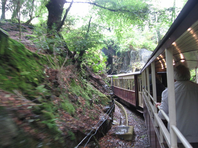 Welsh Highland Railway entering Goat Tunnel, Beddgelert