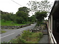 SH5358 : Welsh Highland Railway beside the A4085 near Waunfawr by Gareth James