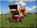 SU3435 : Longstock - Threshing Machine by Chris Talbot