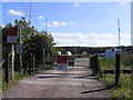 TM2850 : Industrial Estate Level Crossing by Adrian Cable