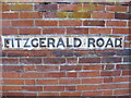 TM2749 : Fitzgerald Road sign by Adrian Cable