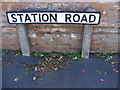 TM2648 : Station Road sign by Adrian Cable