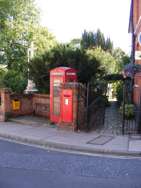 Telephone Box & Market Hill Postbox