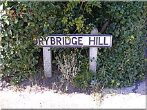 TM2649 : Drybridge Hill sign by Geographer