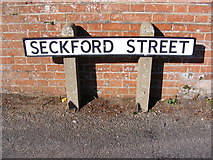 TM2649 : Seckford Street sign by Geographer