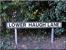 TM2649 : Lower Haugh Lane sign by Geographer