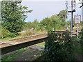 NZ0863 : Footpath crosses railway south-west of Ovingham Bridge by Andrew Curtis