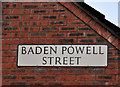 J3275 : Baden Powell Street sign, Belfast by Albert Bridge