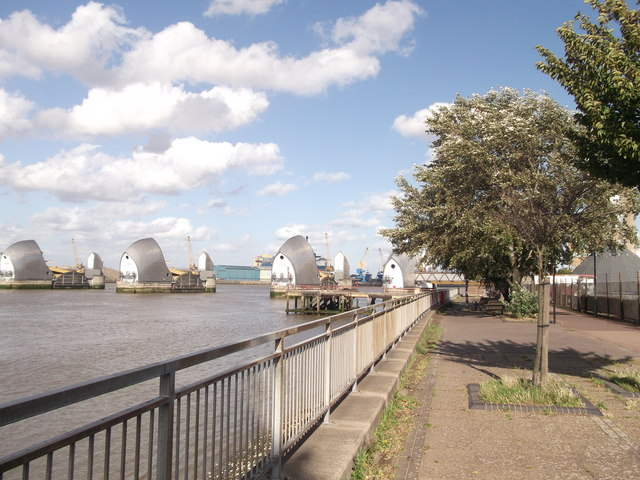 Thames Path near Thames Flood Barrier