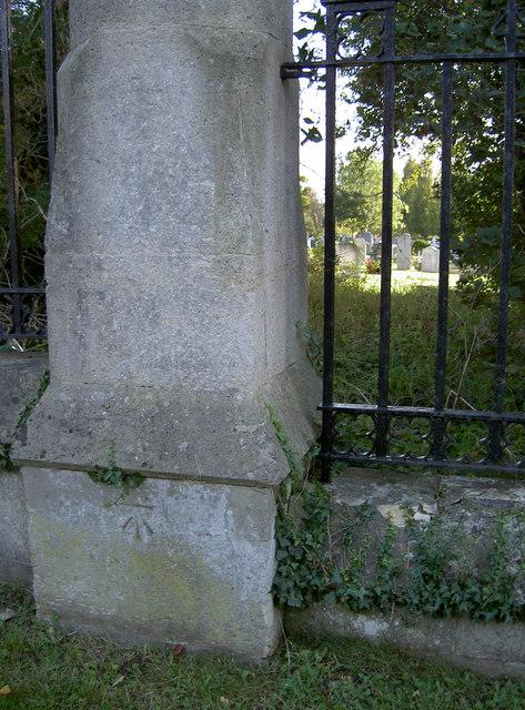 Cut benchmark on a pillar, Haycombe    © Neil Owen cc-by-sa