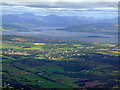 NS3766 : Kilmacolm and the Firth of Clyde from the air by Thomas Nugent