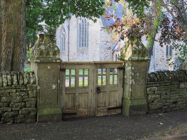 The gates to St. James's Church, Hunstanworth
