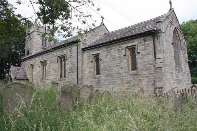 St Bartholomews Church and gravestones