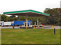 SJ9605 : Fuel Forecourt at Hilton Park by David Dixon