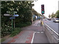 TQ4178 : Green Chain Walk and Thames Path on Woolwich Road by David Anstiss