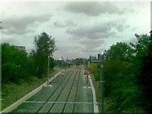 SJ8195 : Metrolink lines, Firswood by Alex McGregor