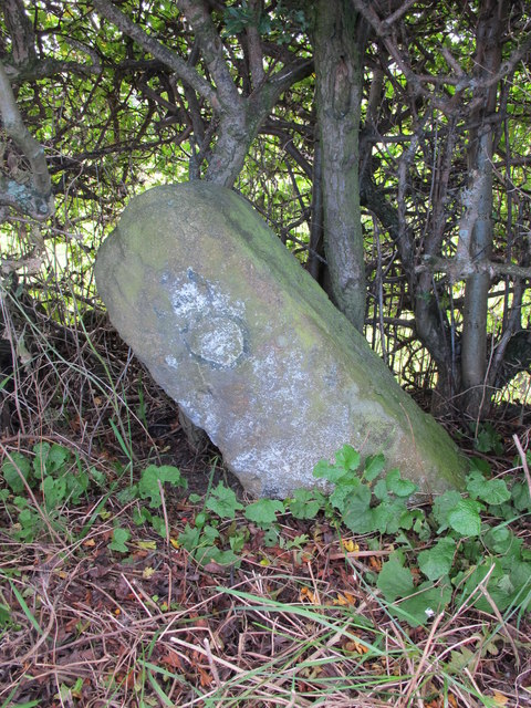 Milestone on the Military Road (B6318) east of Rudchester