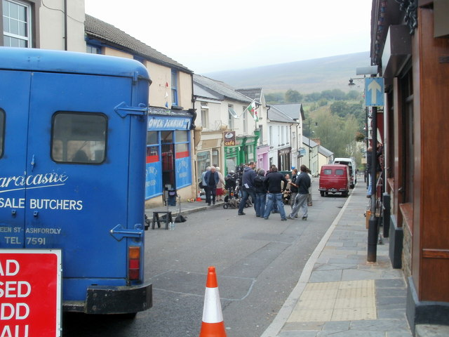 Filming 'The Indian Doctor' in Blaenavon