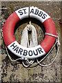 NT9167 : Lifebuoy, St Abbs by Maigheach-gheal