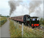 SO2508 : Whitehead and Mardy Monster leave  Blaenavon (High Level) station by Jaggery