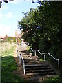 TM2649 : Steps of Fen Meadow footpath to Seckford Street by Adrian Cable