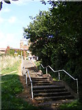 TM2649 : Steps of Fen Meadow footpath to Seckford Street by Geographer