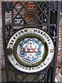 TM2649 : Name Plaque on the Gates of Seckford Hospital by Adrian Cable
