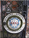 TM2649 : Name Plaque on the Gates of Seckford Hospital by Geographer