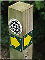 TL6248 : Footpath Marker Post by Keith Evans