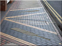 SK5838 : Radcliffe Road pavement by John Sutton