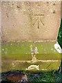 NT9167 : Bench Mark, St Abbs Church by Maigheach-gheal