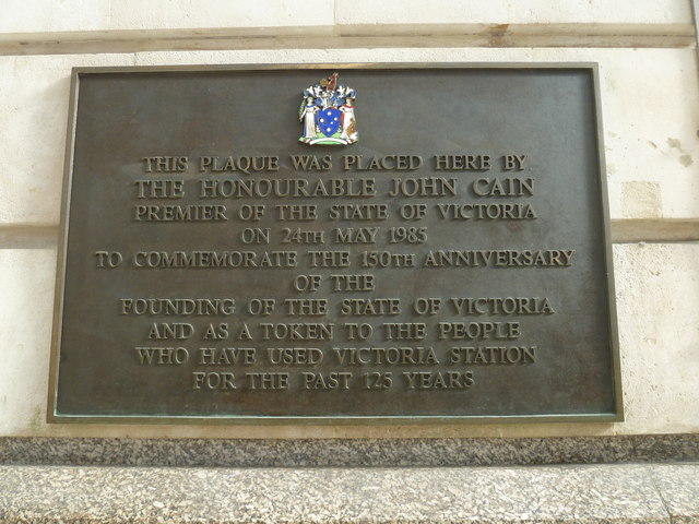 Plaque within Victoria Station